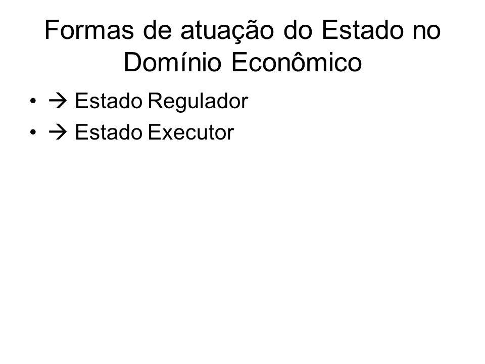 Formas de atuação do Estado no Domínio Econômico
