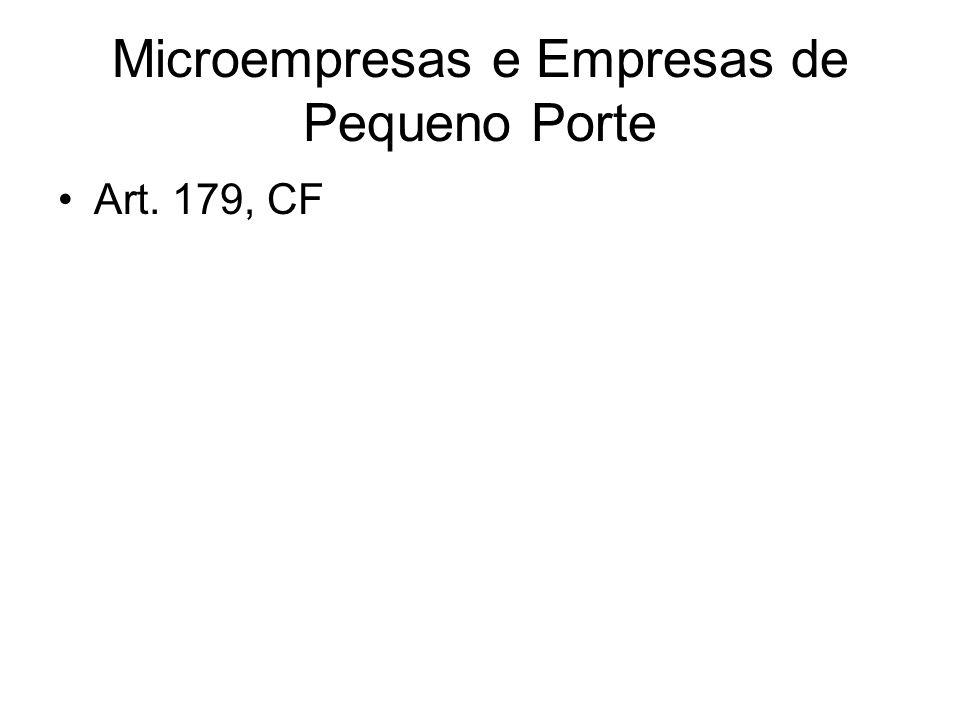 Microempresas e Empresas de Pequeno Porte