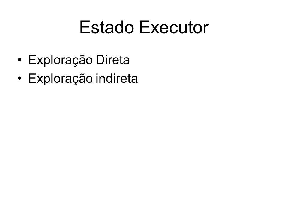 Estado Executor Exploração Direta Exploração indireta
