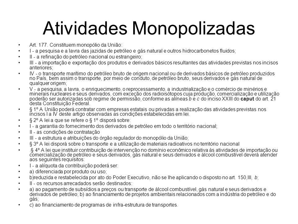 Atividades Monopolizadas