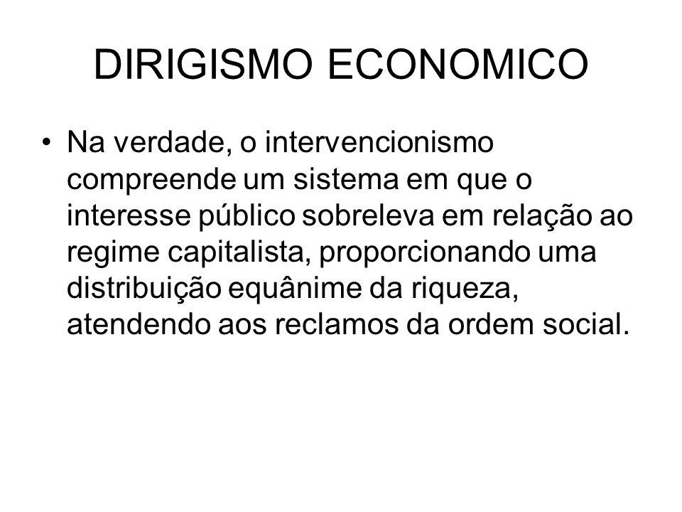 DIRIGISMO ECONOMICO