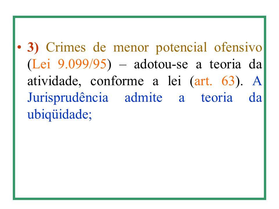3) Crimes de menor potencial ofensivo (Lei 9