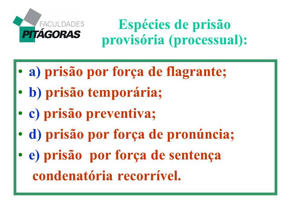 Espécies de prisão provisória (processual):