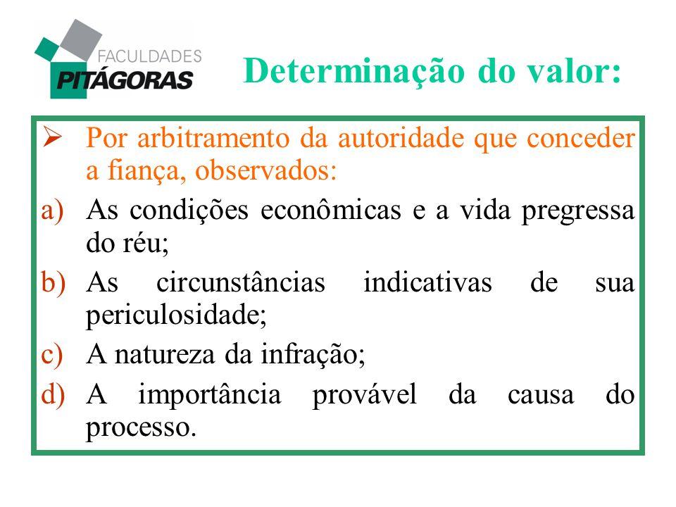Determinação do valor: