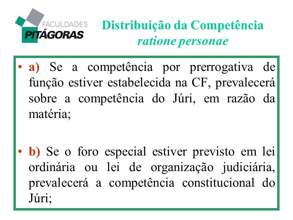 Distribuição da Competência ratione personae