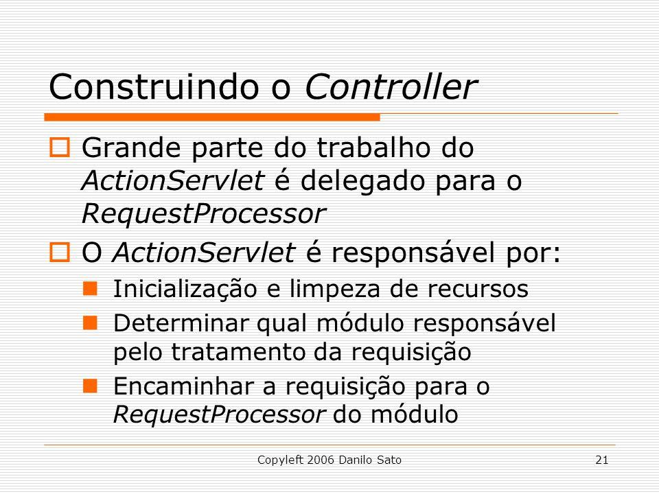 Construindo o Controller