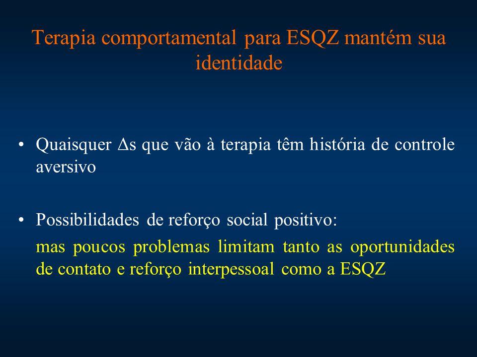 Terapia comportamental para ESQZ mantém sua identidade
