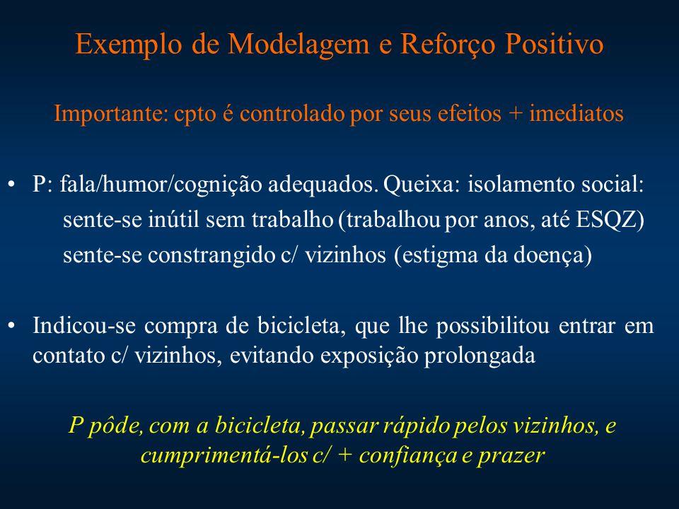 Exemplo de Modelagem e Reforço Positivo