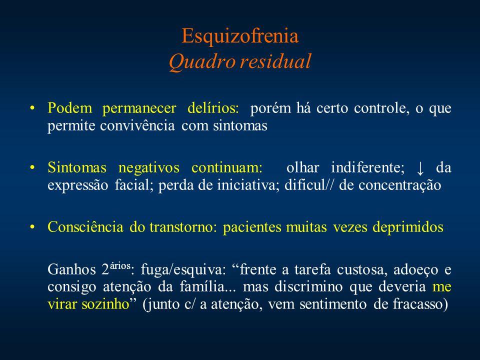 Esquizofrenia Quadro residual