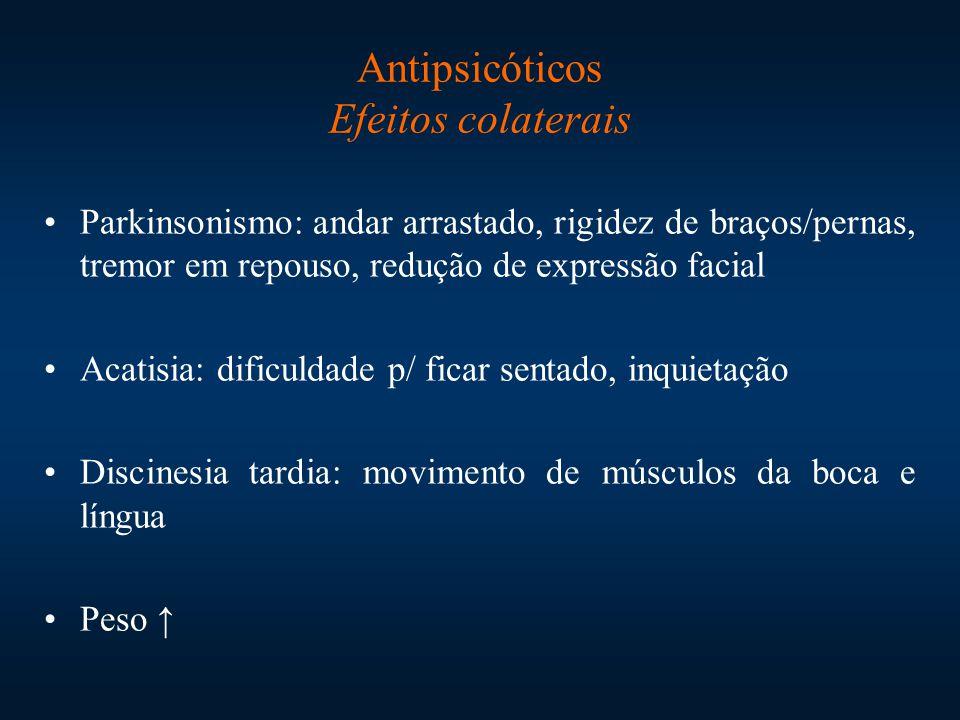 Antipsicóticos Efeitos colaterais