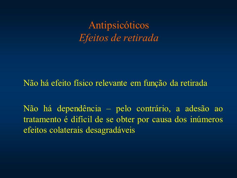 Antipsicóticos Efeitos de retirada