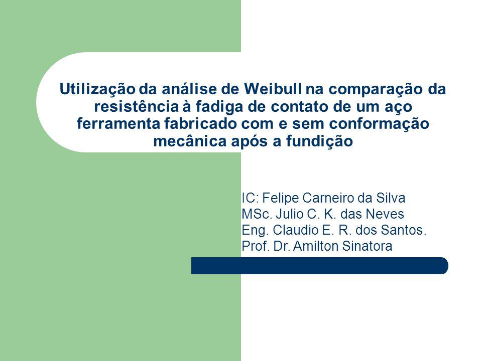 Utilização da análise de Weibull na comparação da resistência à fadiga de contato de um aço ferramenta fabricado com e sem conformação mecânica após a fundição