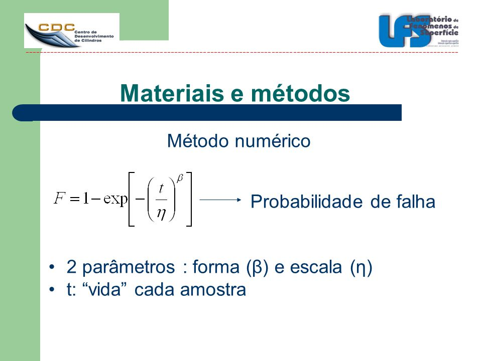 Materiais e métodos Método numérico Probabilidade de falha