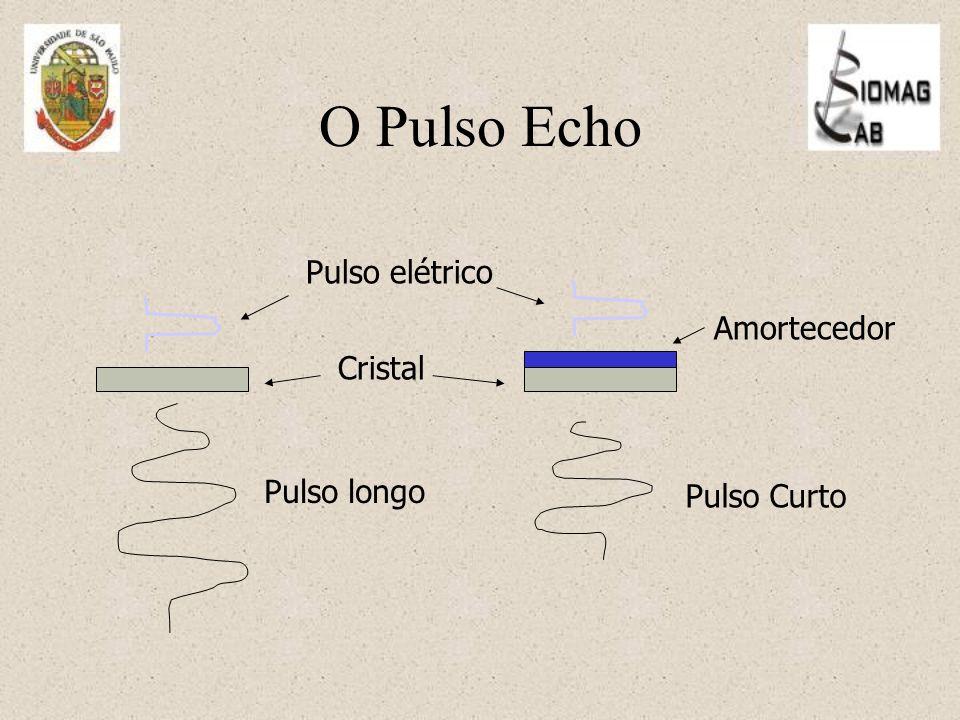 O Pulso Echo Pulso elétrico Amortecedor Cristal Pulso longo