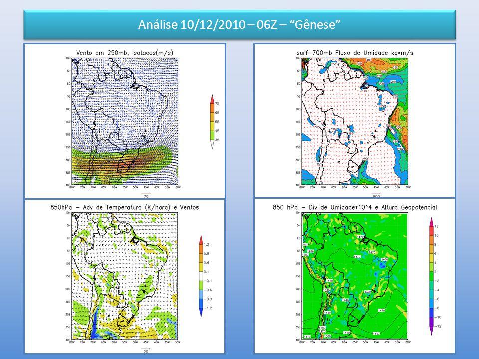 Análise 10/12/2010 – 06Z – Gênese