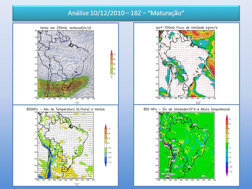 Análise 10/12/2010 – 18Z – Maturação