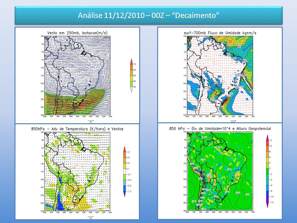 Análise 11/12/2010 – 00Z – Decaimento