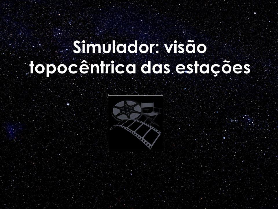 Simulador: visão topocêntrica das estações