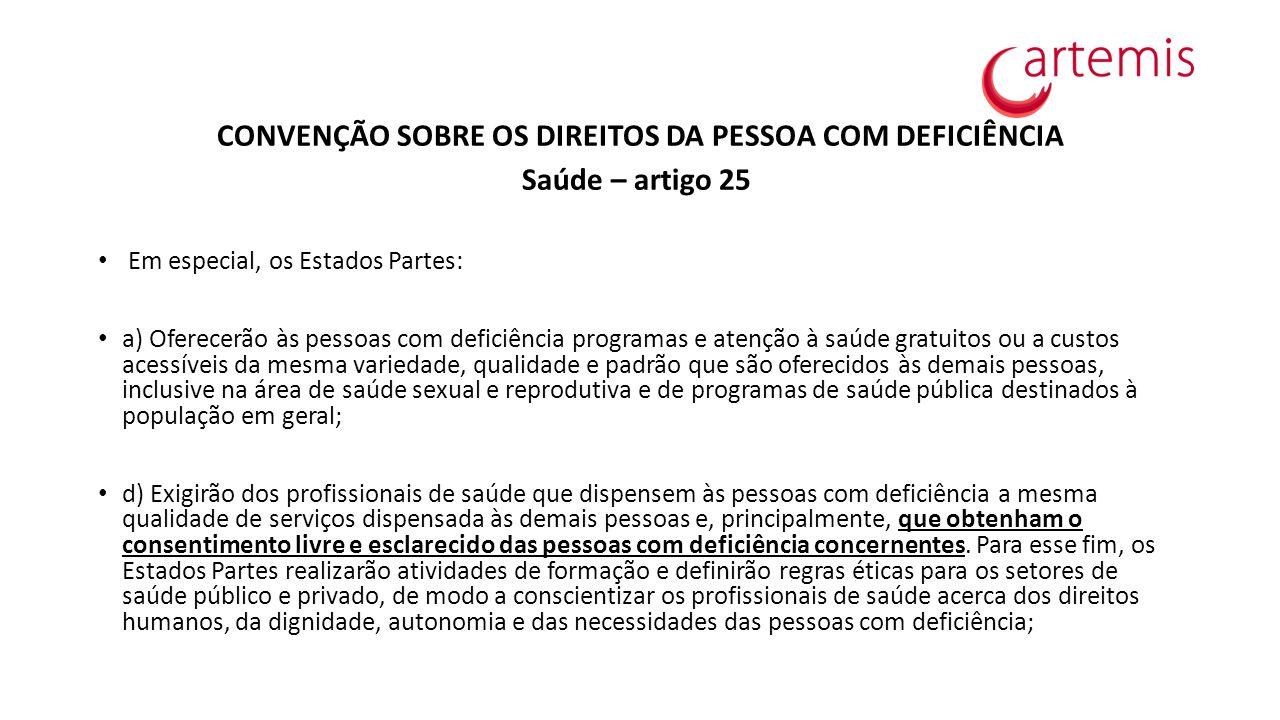 CONVENÇÃO SOBRE OS DIREITOS DA PESSOA COM DEFICIÊNCIA