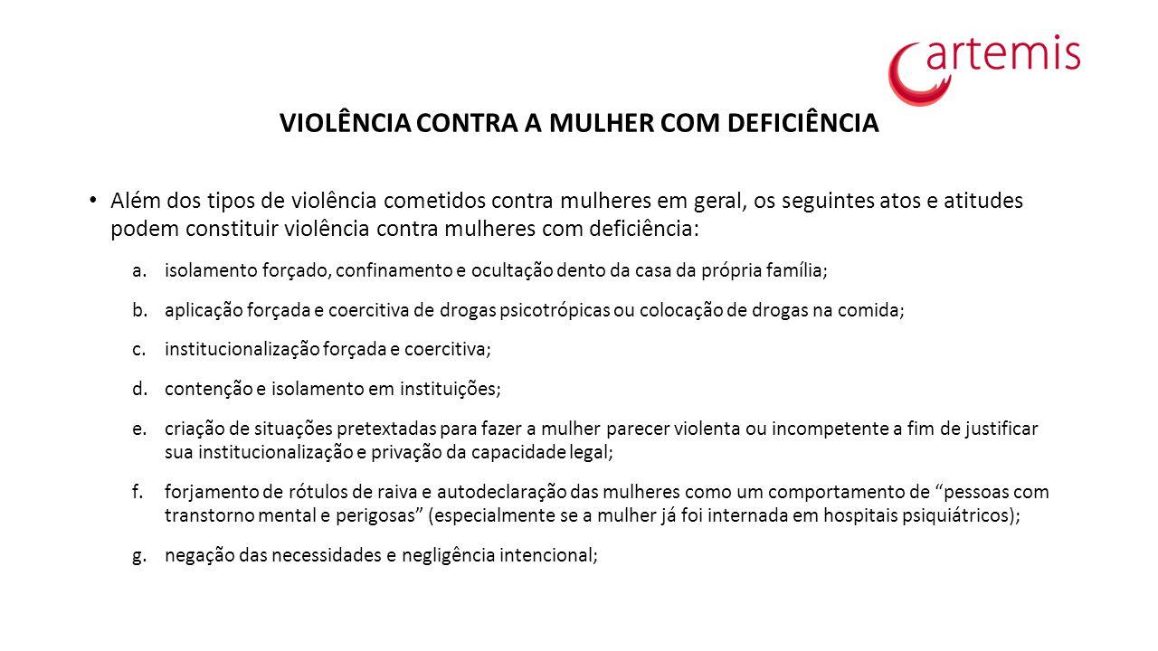 VIOLÊNCIA CONTRA A MULHER COM DEFICIÊNCIA
