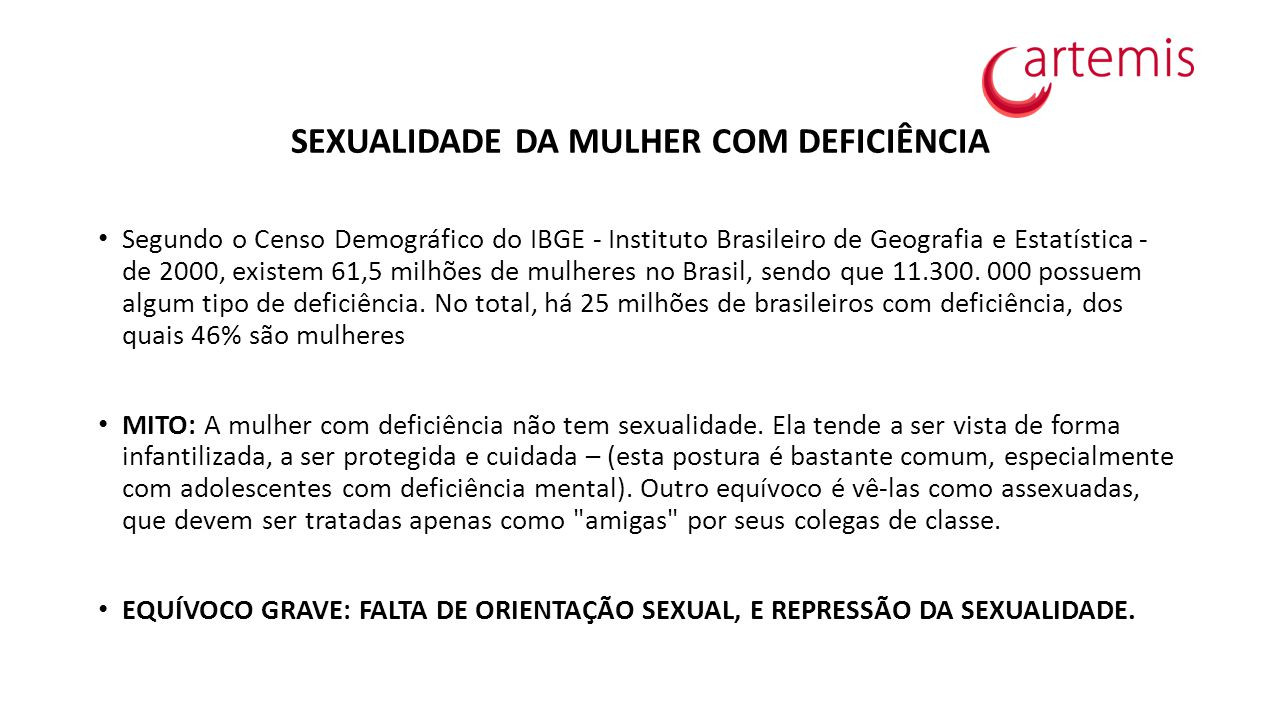 SEXUALIDADE DA MULHER COM DEFICIÊNCIA