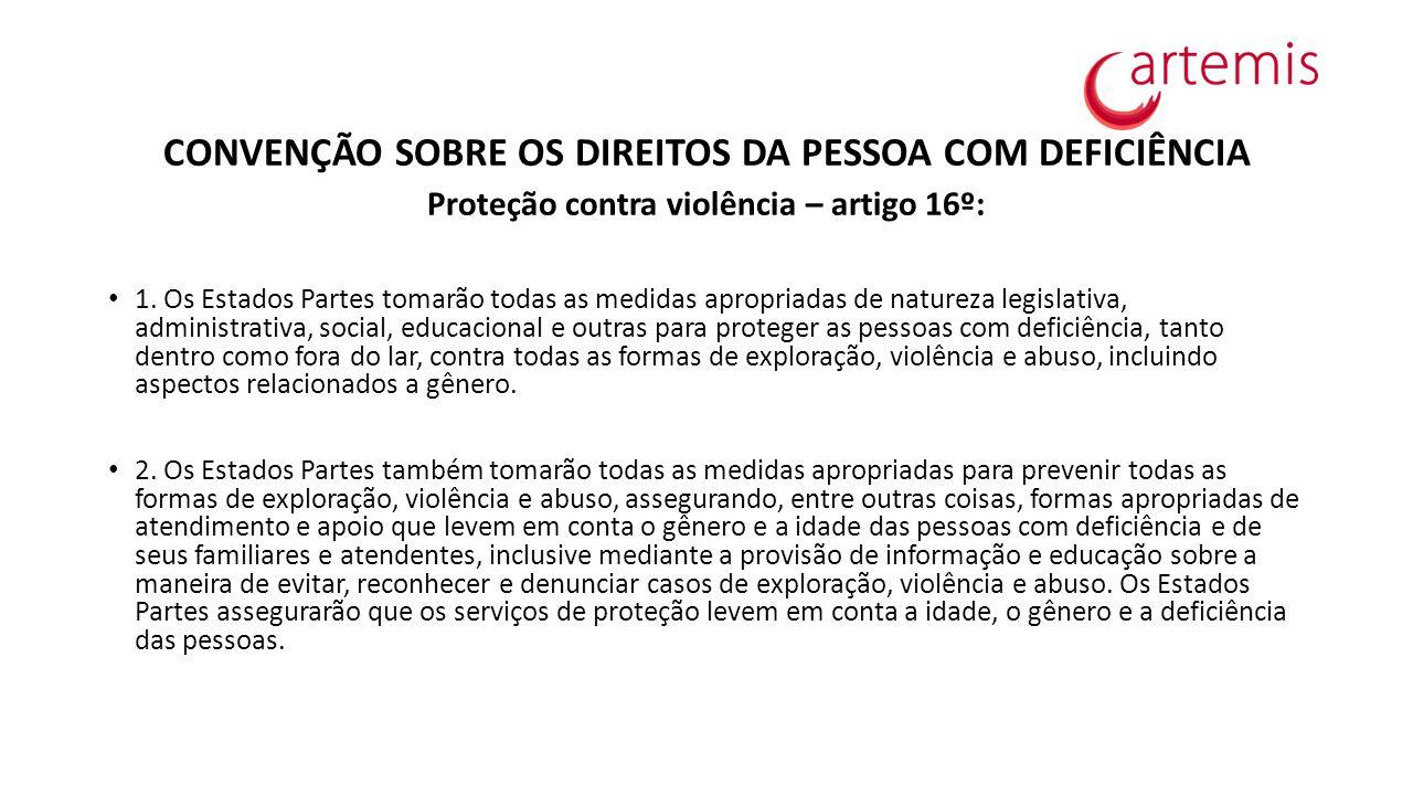 Proteção contra violência – artigo 16º: