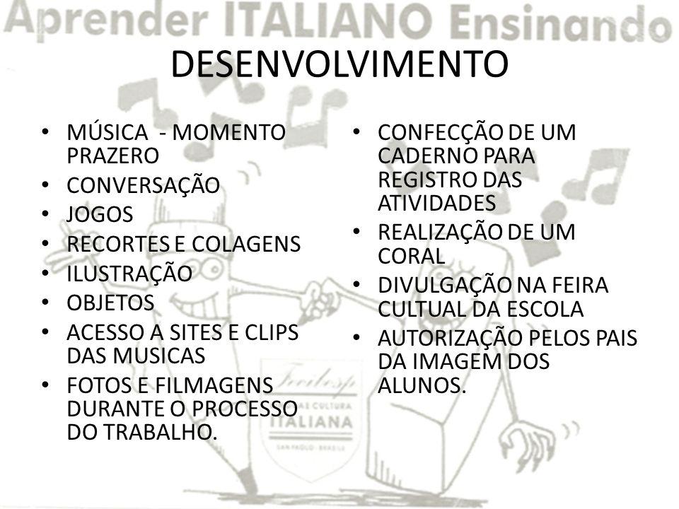 DESENVOLVIMENTO MÚSICA - MOMENTO PRAZERO CONVERSAÇÃO JOGOS