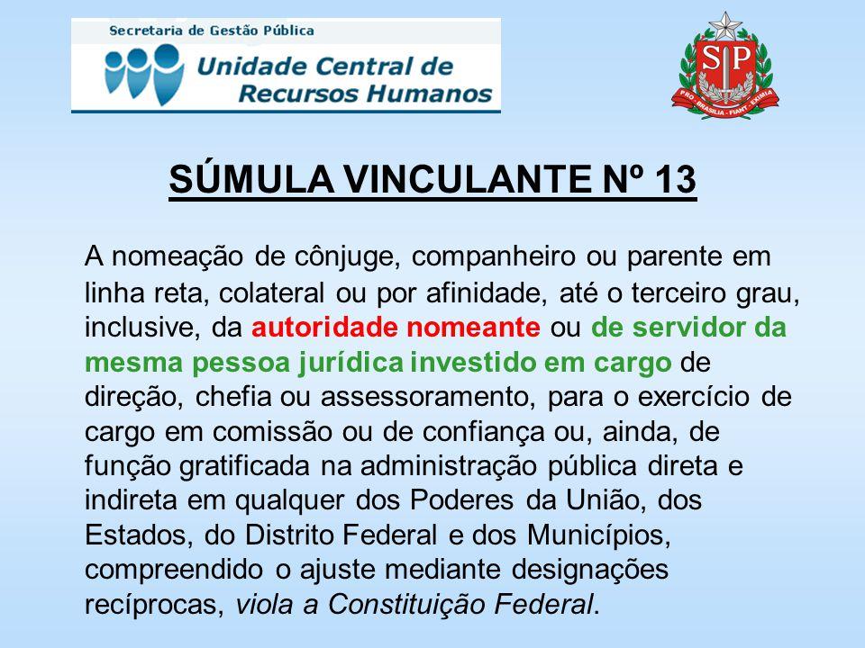 SÚMULA VINCULANTE Nº 13