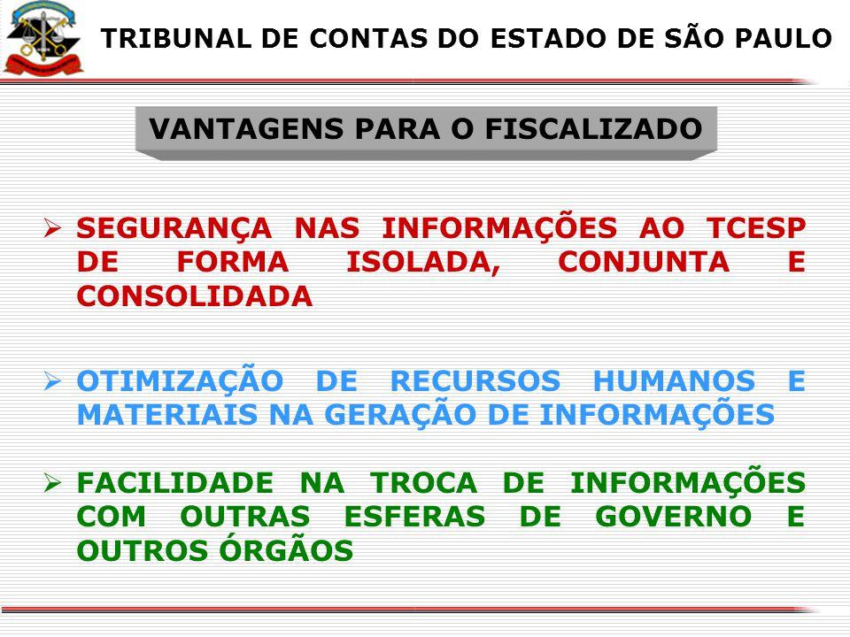 VANTAGENS PARA O FISCALIZADO