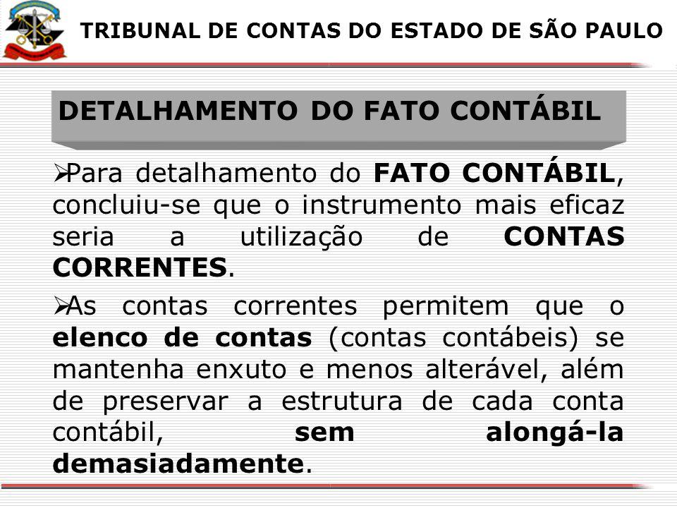 DETALHAMENTO DO FATO CONTÁBIL