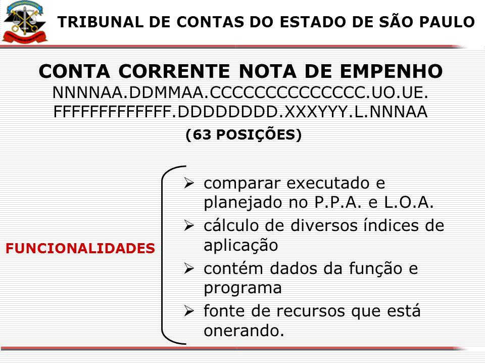 X X. TRIBUNAL DE CONTAS DO ESTADO DE SÃO PAULO.