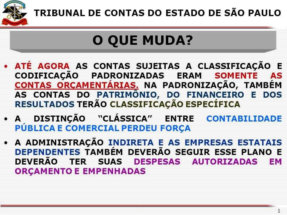 O QUE MUDA TRIBUNAL DE CONTAS DO ESTADO DE SÃO PAULO