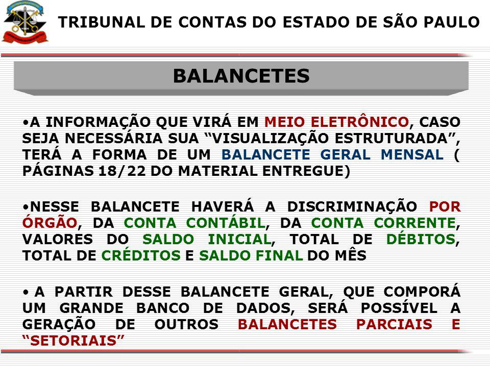 BALANCETES BALANCETES X X X X
