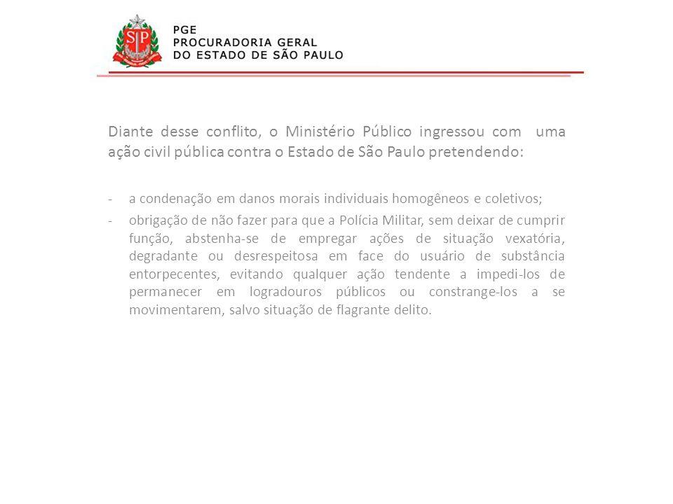 Diante desse conflito, o Ministério Público ingressou com uma ação civil pública contra o Estado de São Paulo pretendendo: