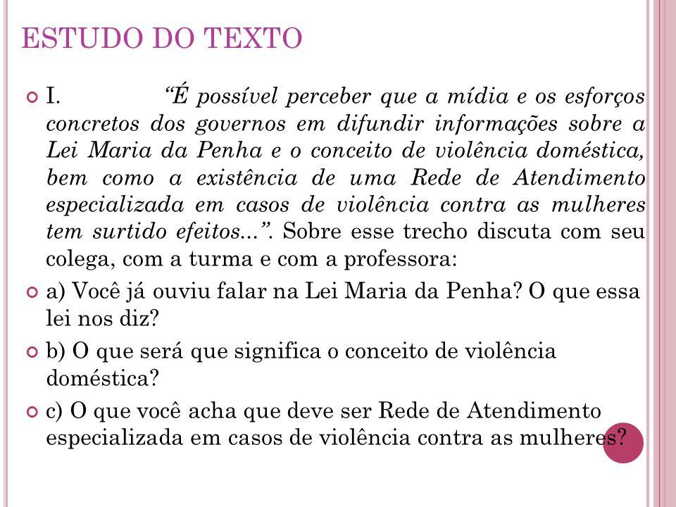 ESTUDO DO TEXTO