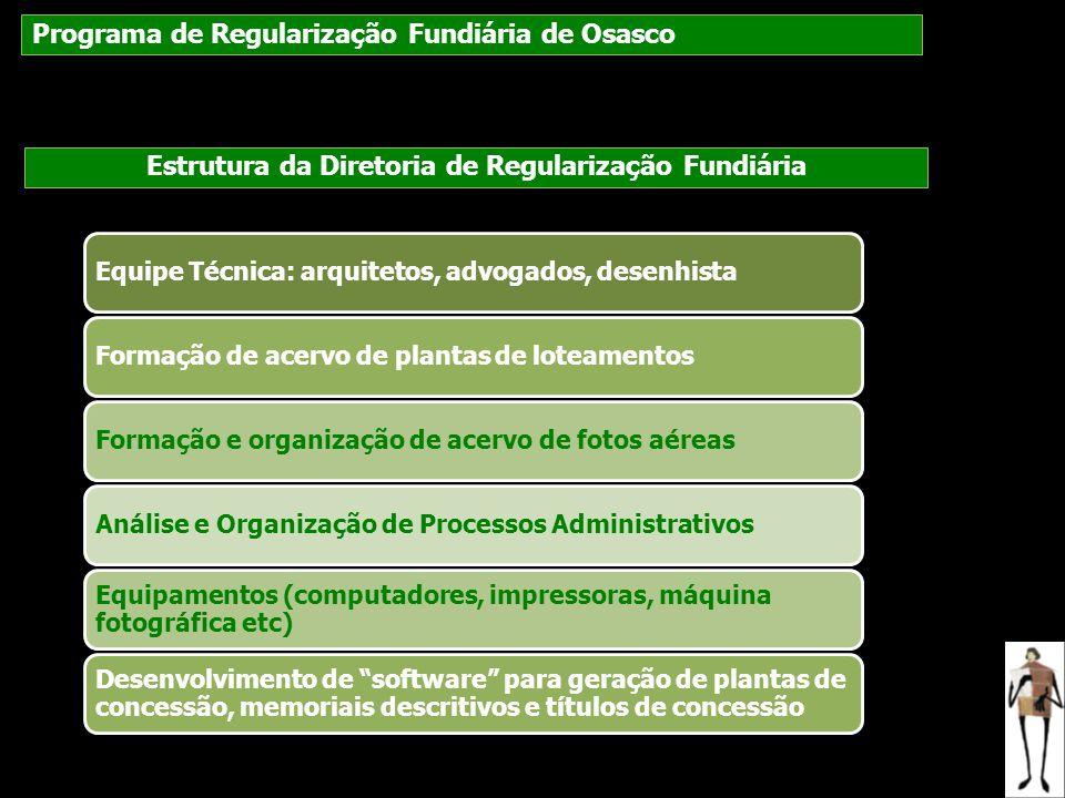 Estrutura da Diretoria de Regularização Fundiária