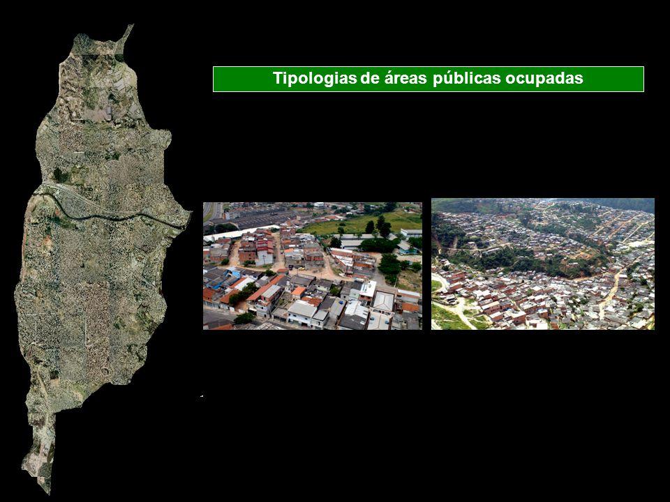 Tipologias de áreas públicas ocupadas