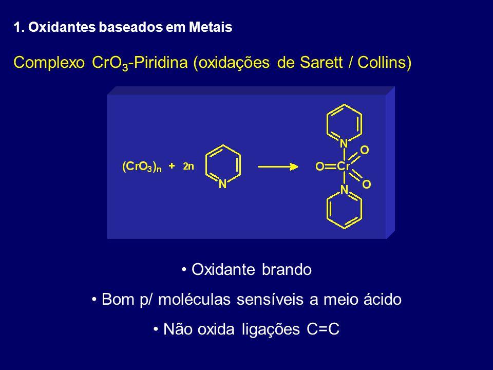 Bom p/ moléculas sensíveis a meio ácido