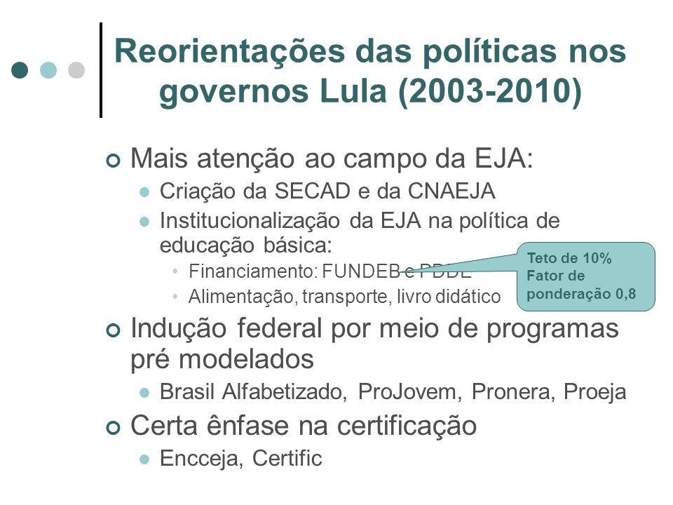 Reorientações das políticas nos governos Lula (2003-2010)