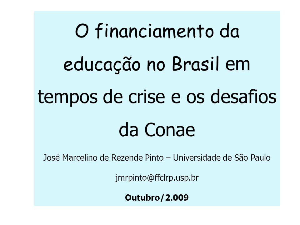 José Marcelino de Rezende Pinto – Universidade de São Paulo