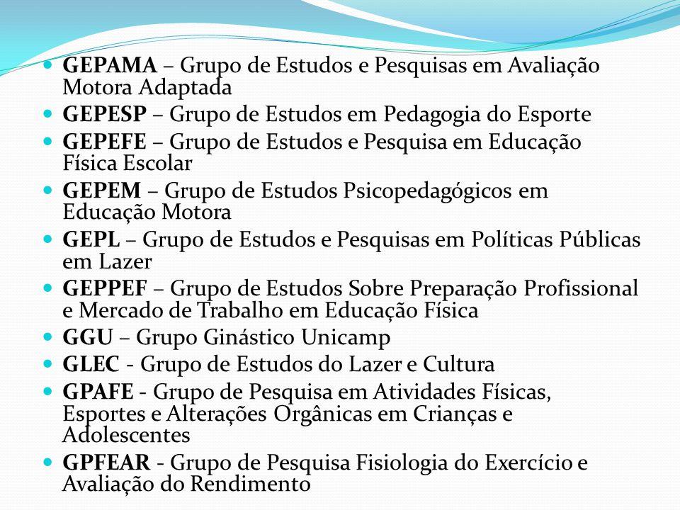 GEPAMA – Grupo de Estudos e Pesquisas em Avaliação Motora Adaptada