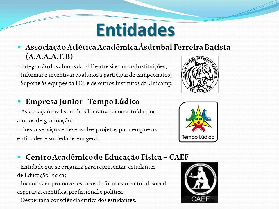 Entidades Associação Atlética Acadêmica Ásdrubal Ferreira Batista (A.A.A.A.F.B) - Integração dos alunos da FEF entre si e outras Instituições;