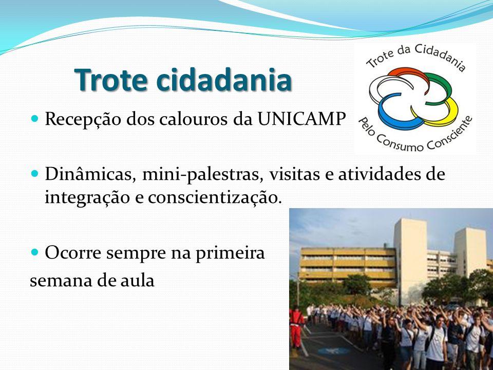 Trote cidadania Recepção dos calouros da UNICAMP