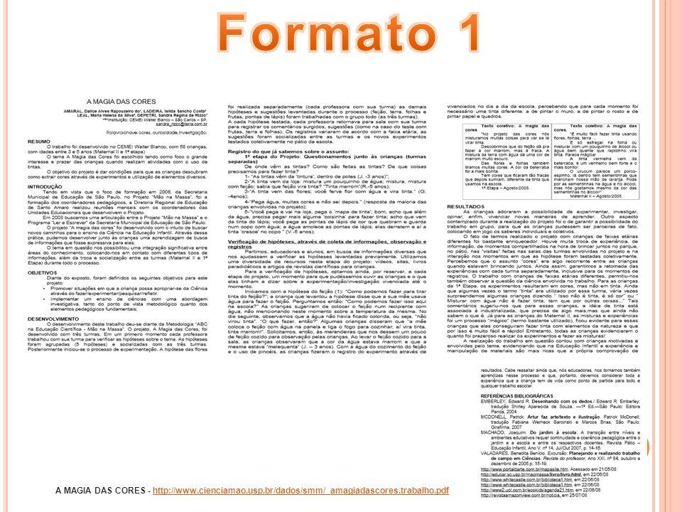 Formato 1 A MAGIA DAS CORES - http://www.cienciamao.usp.br/dados/smm/_amagiadascores.trabalho.pdf