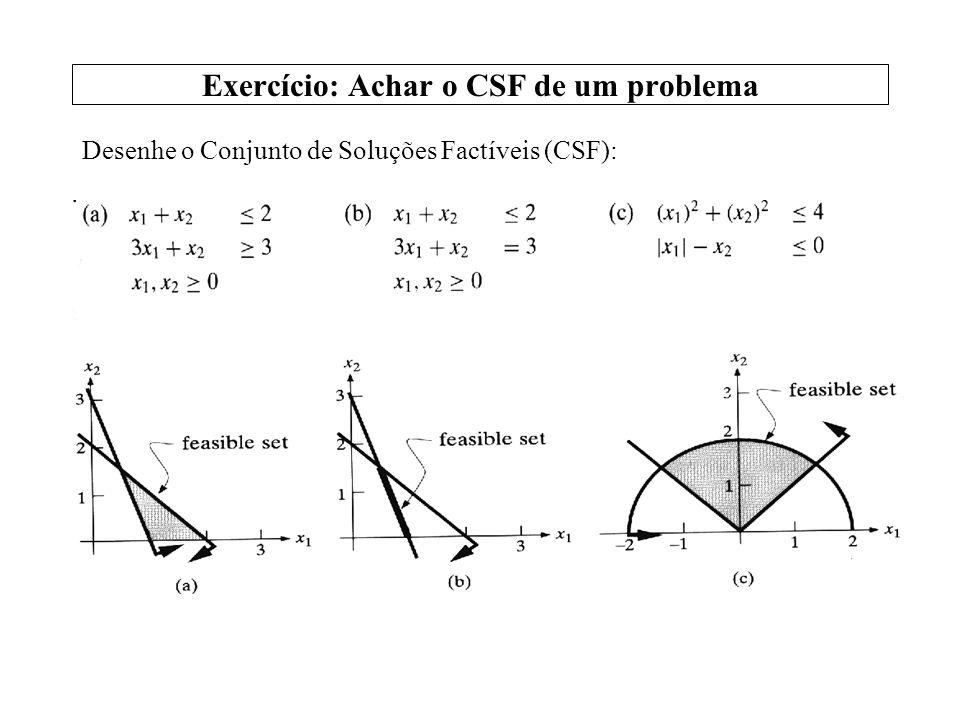Exercício: Achar o CSF de um problema