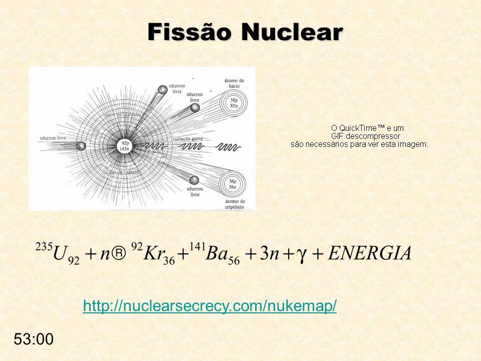 Fissão Nuclear http://nuclearsecrecy.com/nukemap/ 53:00