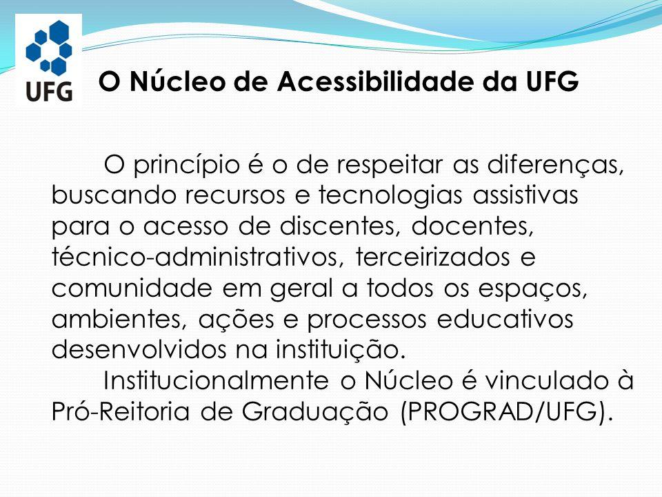 O Núcleo de Acessibilidade da UFG