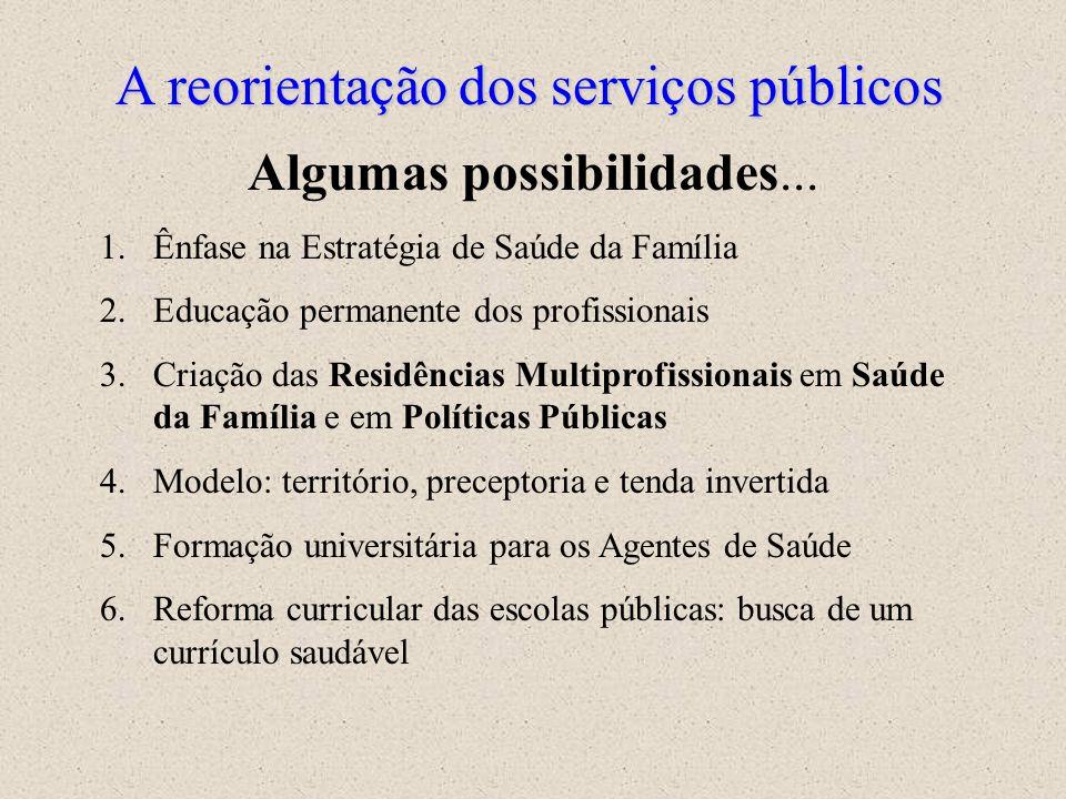 A reorientação dos serviços públicos