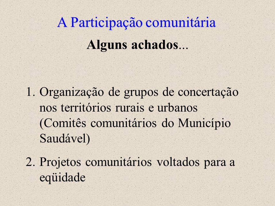 A Participação comunitária