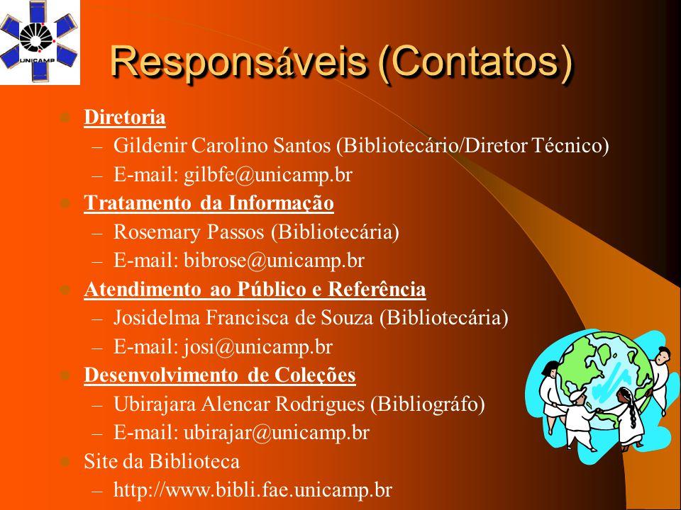 Responsáveis (Contatos)